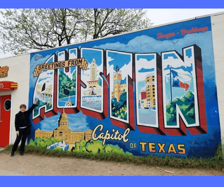 south first street greetings from austin mural